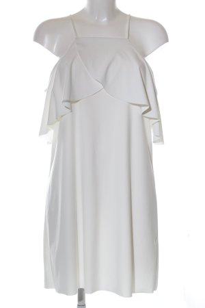 Zara schulterfreies Kleid weiß Casual-Look