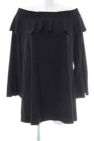 Zara schulterfreies Kleid schwarz Elegant