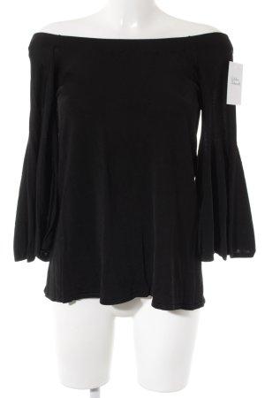 Zara schulterfreies Top schwarz Casual-Look