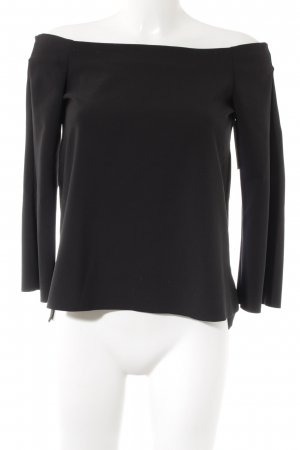 Zara Top sin hombros negro elegante