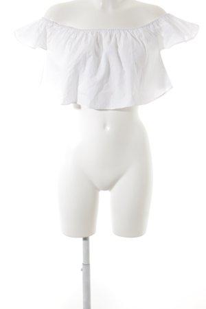Zara Hauts épaule nues blanc style romantique
