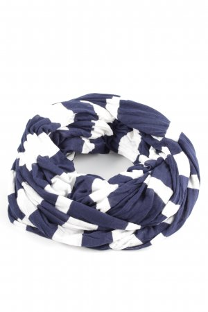 Zara Shoulder Scarf blue-white striped pattern casual look