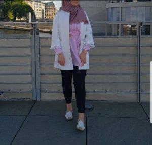 Zara || Schwarz weiß gestreifte Bluse / Blusenkleid / Kleid / Hemd