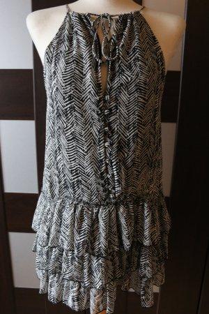 Zara Schwarz weiß Kleid Blogger Style