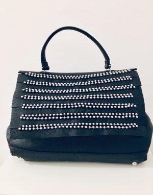Zara Sac porté épaule noir-argenté