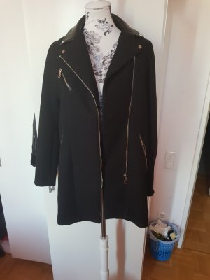 Zara Overgangsjack zwart-zilver