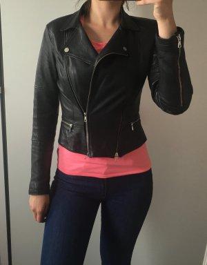Zara schwarze Lederjacke aus Authentic Leather