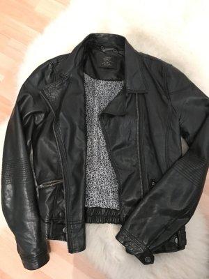 Zara // schwarze Lederjacke // Gr.36,38