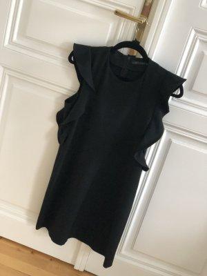 Zara schwarzes Kleid mit Volantärmeln