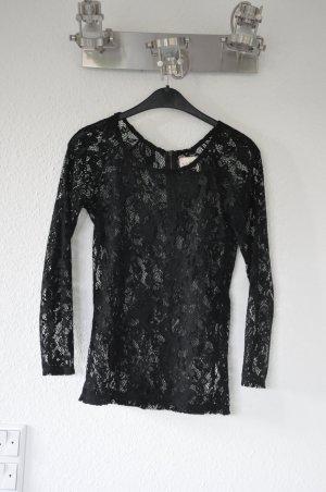 ZARA schwarzes Spitzen Shirt, sexy, perfekt zum Weggehen, Blogger, Lace, boho