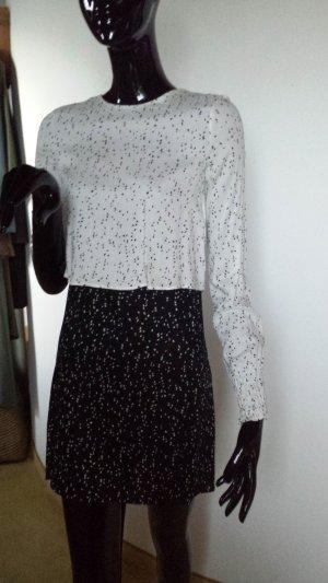 Zara sehr hübsches Kleid schwarz weiß Gr. XS