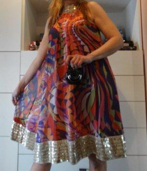 Zara Robe trapèze multicolore