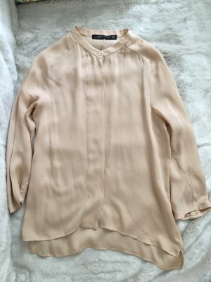 Zara Lace Blouse oatmeal silk