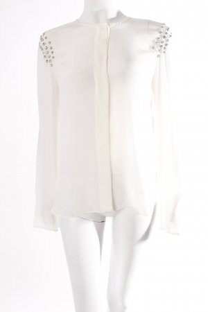 Zara silk blouse white with diamante
