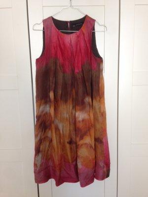Zara Robe trapèze multicolore soie