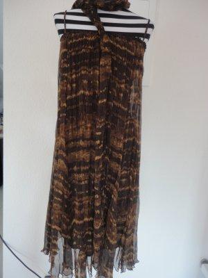Zara Robe chiffon multicolore soie