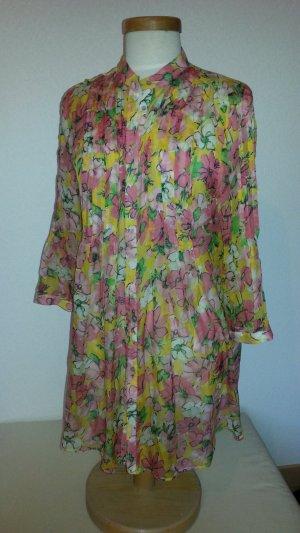 ZARA Seidentunika - Kleid  mit Blumenmuster Gr. M/38
