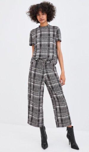 Zara Set Culotte & Shirt dickerer Stoff M