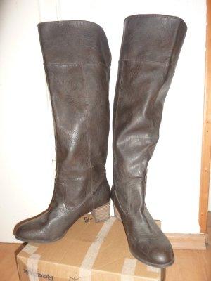 Zara Trafaluc Overknees multicolored leather