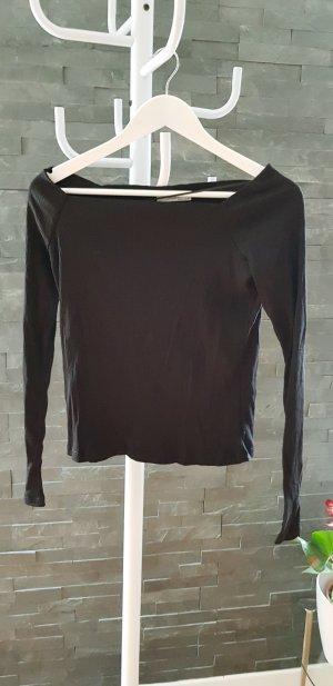 Zara Cropped shirt zwart