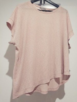Zara shirt asymmetric look nude Ton