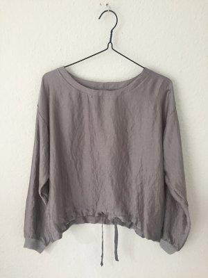 Zara Shirt aus Satin Grau