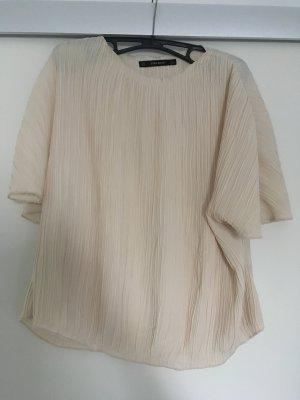 Zara Basic Blouse met korte mouwen veelkleurig
