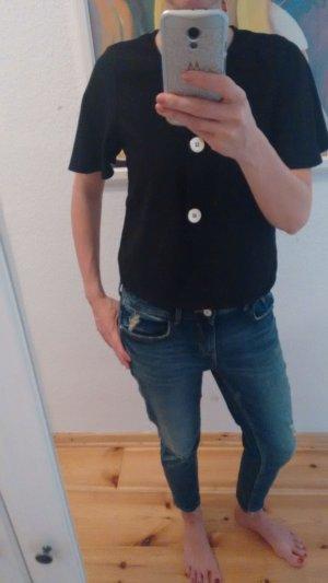 Zara Shirt Bluse Knöpfe Fledermausärmel