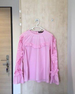 Zara Shirt Bluse mit Rüschen in