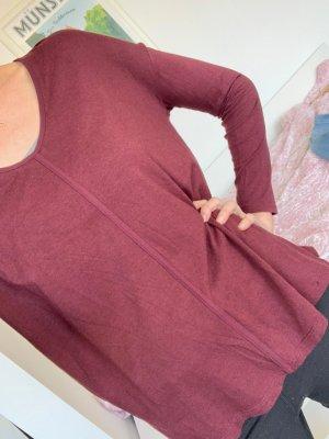 Zara Shirt Burgunderrot
