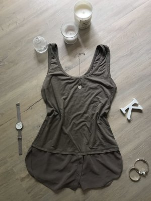 Zara Basic Silk Top green grey
