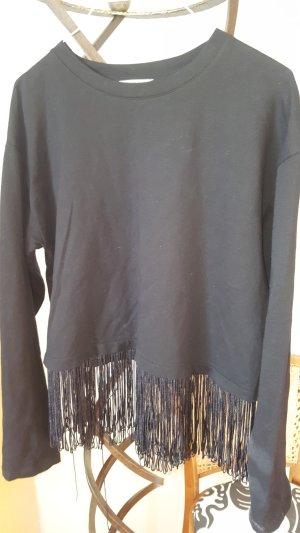 Zara Trafaluc Camicia cropped nero Cotone