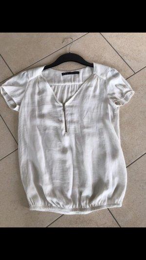 Zara V-Neck Shirt natural white