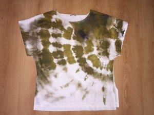 Zara Shirt im Basic Look L Olive / weiß NEU sommerliche Impressionen