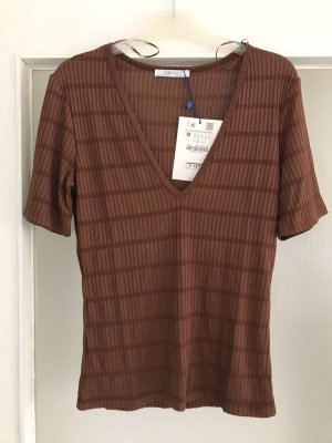 Zara Ribbed Shirt brown