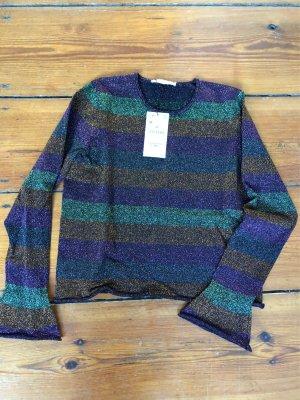 Zara Camisa de rayas multicolor tejido mezclado