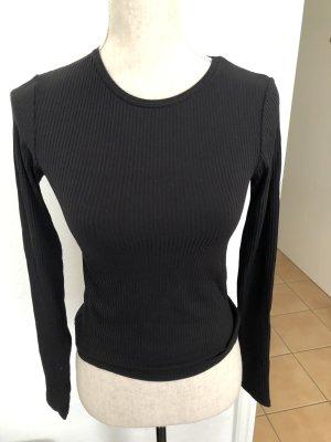 Zara Gestreept shirt zwart