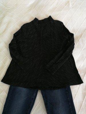 Zara Top à manches longues blanc-noir