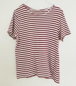 Zara Shirt M Ringelshirt Streifen rot weiß