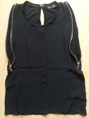 Zara Shirt minimalistisch mit Reißverschluss an den Seiten Größe S