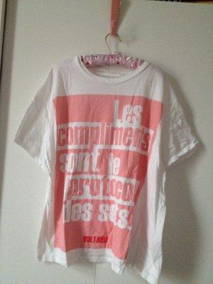Zara Shirt mit Aufdruck