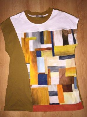 Zara Shirt mit grafischen Strukturen M NEU edle Impressionen