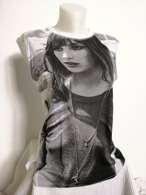 Zara Shirt mit großem Print (Gr. M)