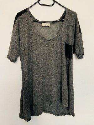 Zara T-shirt noir-gris