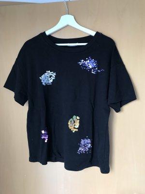 Zara Shirt mit Pailletten Größe L