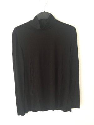Zara Shirt mit Rollkragen Schwarz