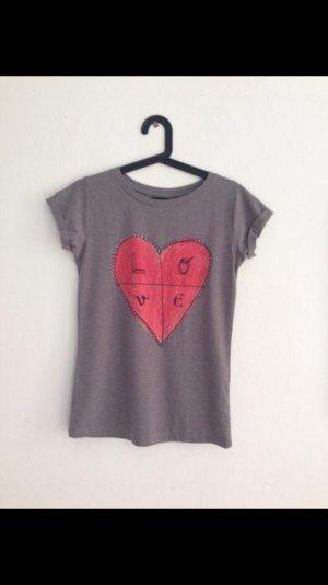 Zara-Shirt mit Statement-Print Größe S