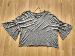 Zara Trafaluc Top extra-large gris coton