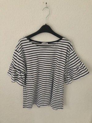 Zara Shirt mit Volantärmeln gestreift