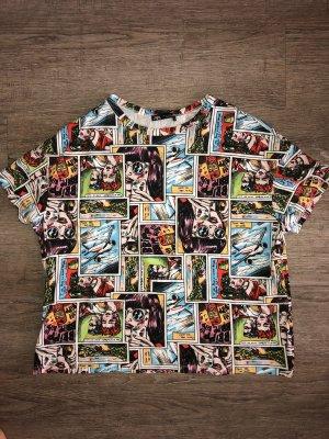 Zara T-shirt imprimé multicolore